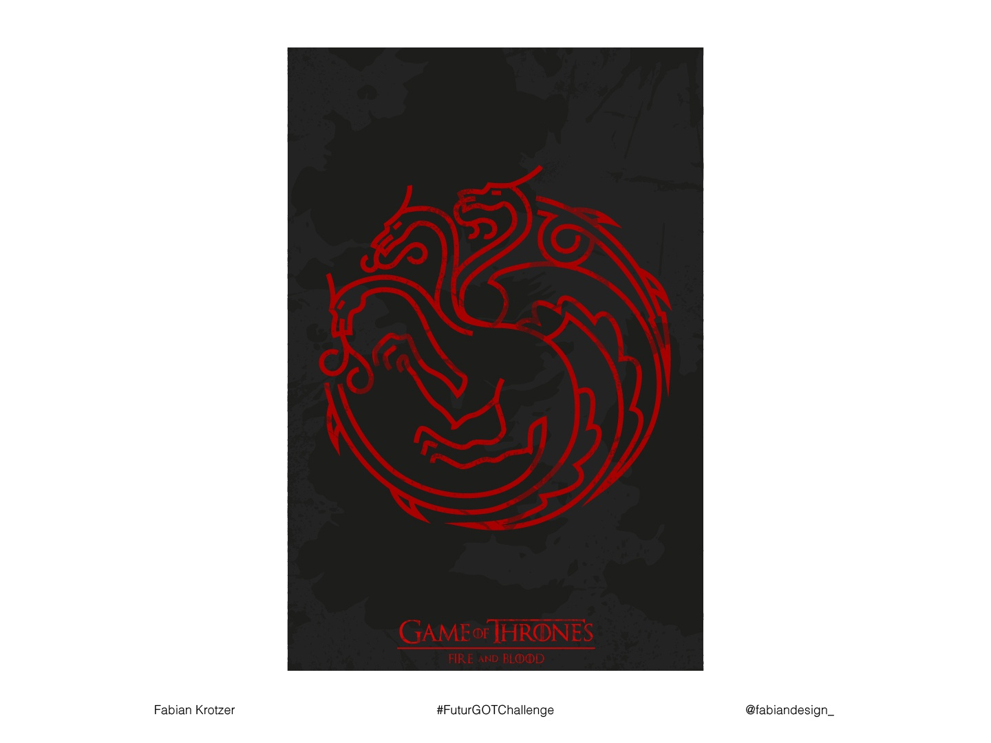 Game of Thrones Poster FABIAN K. typography got modern fanart fantasy graphic artist vector minimal illustration futur vote challenge graphic  design creative creativity designer design poster design game of thrones poster