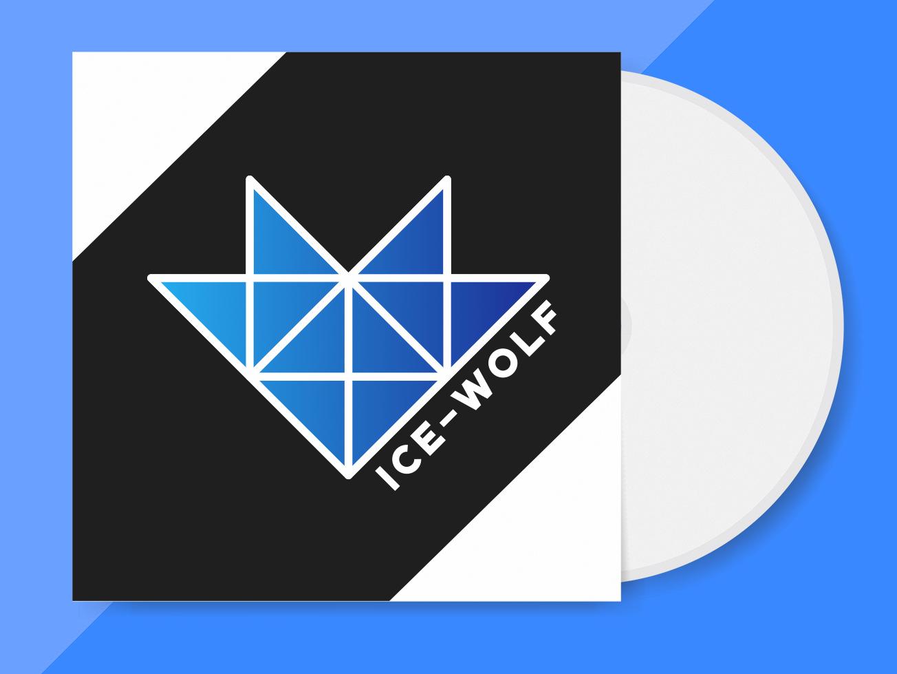 Band Logo Ice Wolf typography logoinspiration logodesigner logo design logo cd bands wolf branding modern minimal graphic  design graphic artist cd cover cd design band designer design creativity creative