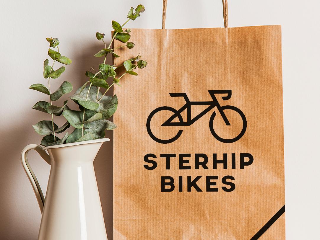 Logo Bicycle shop bicycle shop typography logoinspiration logodesigner logo design logo modern minimal graphic  design graphic artist designer design creativity dailylogochallenge creative bag bikes bike bicycle
