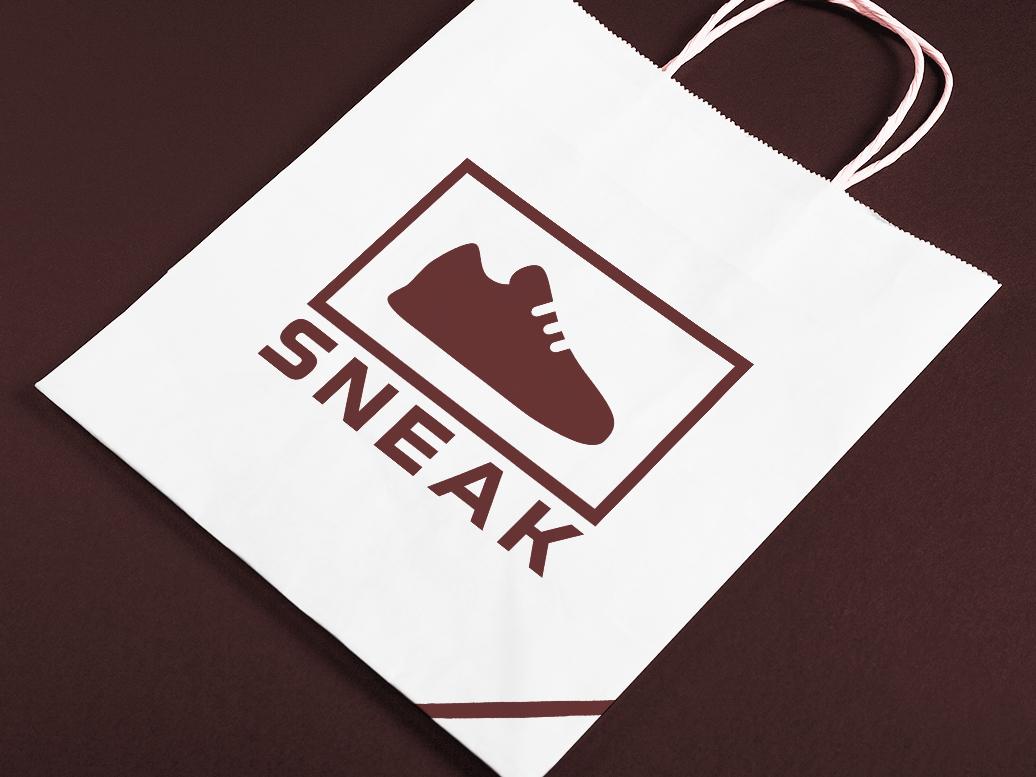 Logo Sneaker Shop typography branding logoinspiration logodesigner logo design logo modern minimal bag graphic  design graphic artist designer design creativity creative shoes shoe dailylogochallenge shop sneaker