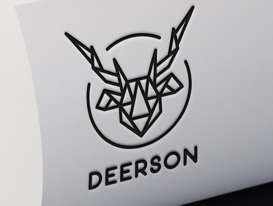 Logo Deer Abstract