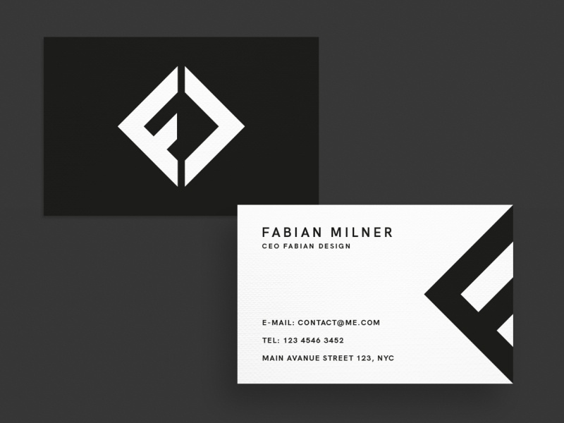 Business Card Logo Designer By Fabian Krotzer On Dribbble
