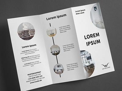 Broschure Company graphic artist graphic  design typography modern designer design creativity creative trifold brochure brochure design flyer design flyer brochure