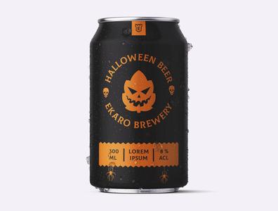Halloween Beer Can