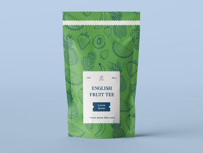 English Fruit Tee Package Design