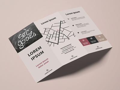 Flyer Management Consultancy graphic  design management typography modern designer design creativity creative flyer design flyer trifold brochure brochure design brochure