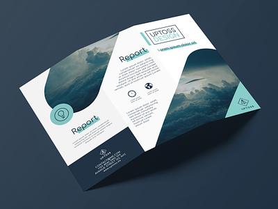 Flyer Uptoss minimal graphic  design modern typography designer design creativity creative trifold brochure brochure brochure design flyer design flyer