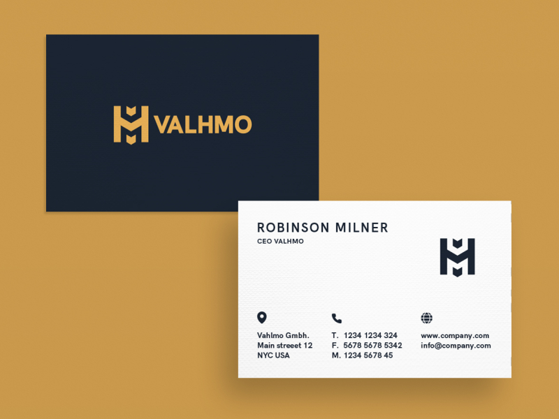 Business Card Gold Valhmo By Fabian Krotzer On Dribbble