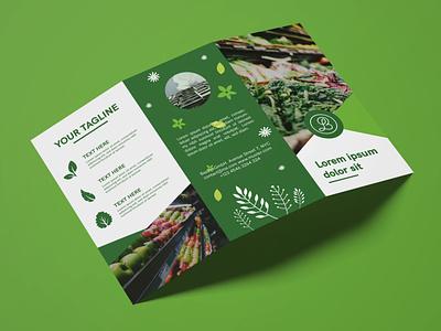 Brochure Design Green minimal typography modern designer design creativity creative flyer design flyer trifold brochure brochure design brochure shop