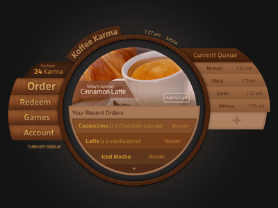 Coffee Shop Touch Table Interface interface texture coffee table touch
