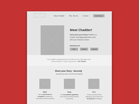 Chadder Website Redesign Wireframe