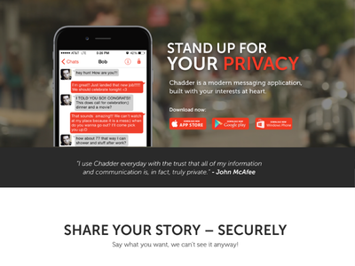 Chadder Website Redesign website one page parallax app privacy