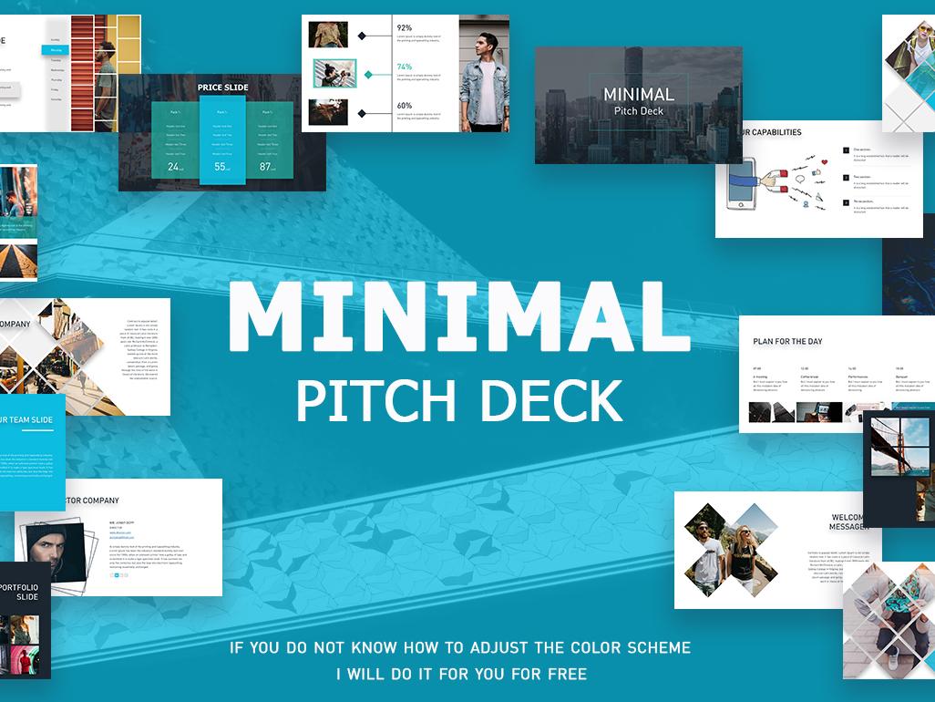 Minimal Pitch Deck + Free version clean minimal infographics best business брендинг вектор логотип дизайн иллюстрация presentation template keynote template powerpoint presentation