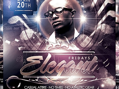 PSD Elegant Fridays Flyer Template