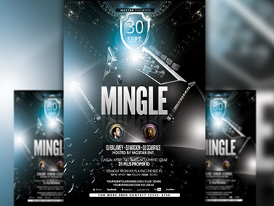PSD Mingle Flyer Template