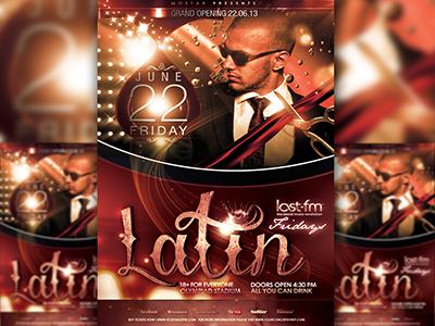 PSD Latin Flyer Template