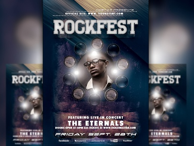 PSD Rockfest Flyer Template