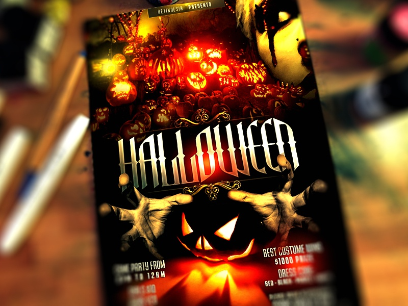 PSD Halloween Flyer Template by Mexelina - Dribbble