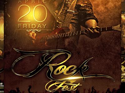 Psd Rock Fest Flyer Template By Mexelina On Dribbble