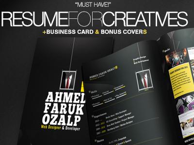 Resume For Creatives + Bonus Templates