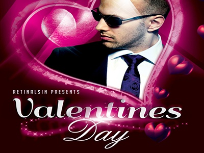 PSD Valentines Day Flyer Template