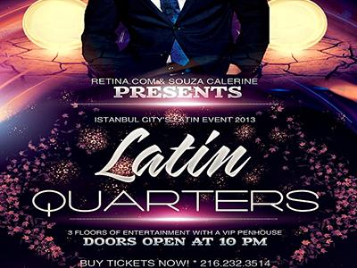 PSD Latin Quarters Flyer Template