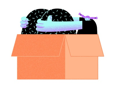 1 box 2 boxes 3 boxes texture character vector illustration