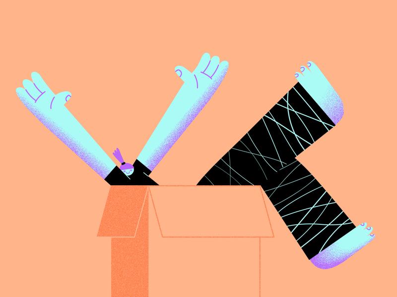 1 box 2 boxes 3 boxes digital texture vector illustration character