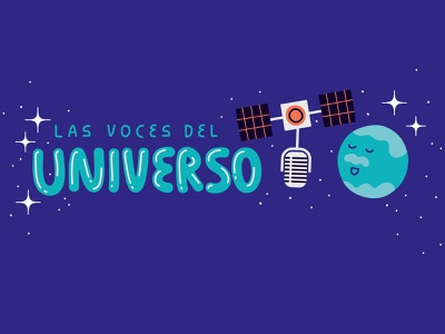 LAS VOCES DEL UNIVERSO detail/title editorial illustration editorial data astronomy science kids magazine kids illustration magazine illustration magazine detail illustrator character illustration digital