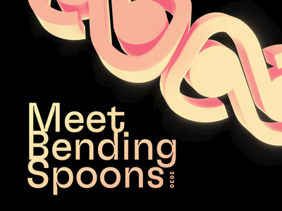 Meet Bending Spoons 2020 branding cinema 4d soft smooth animation 3d abstract softbody italy event octane cgi simulation cinema4d c4d