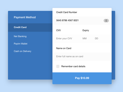 Daily UI #2 Credit Card Checkout checkout dailyui