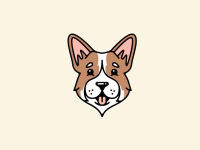 Corgi pembroke line weight corgi dog stroke vector