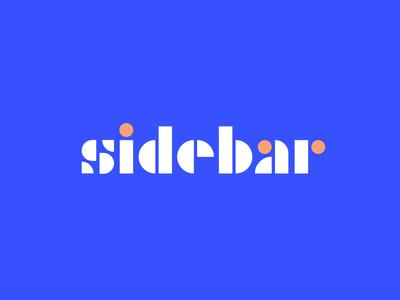 sidebar typography font pink blue sidebar shapes logo type geometric