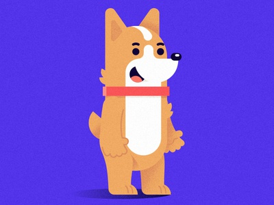 corgi vector flat corgi dog texture