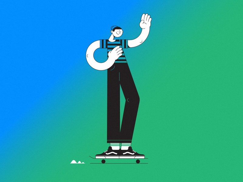 skater color stroke skater gradiant gradient boy skate skateboard