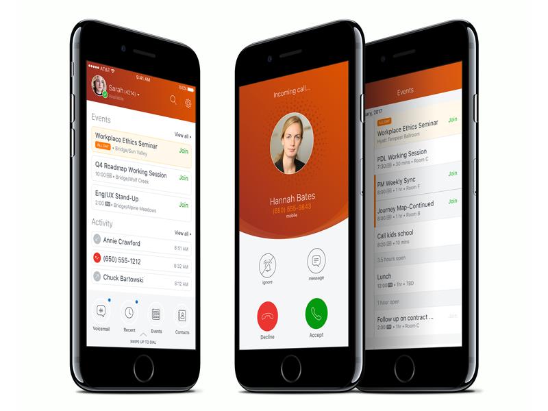 ShoreTel Connect UI voip calling mobile