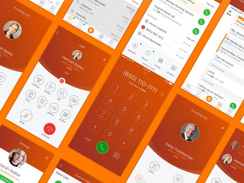 ShoreTel Connect iOS Screens calling voip mobile