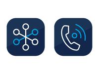 App icons mitel