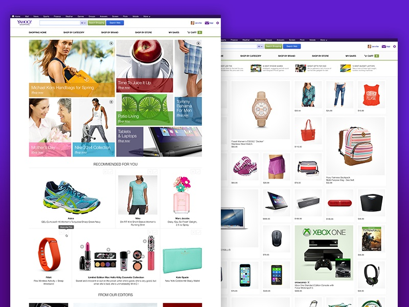 The Yahoo Shopping Site Explorations website e commerce shopping
