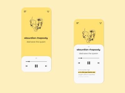 Daily UI 009 Music Player w/Lyrics