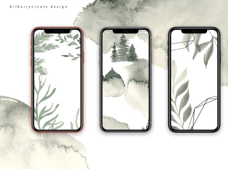 Coniferous Forest For Intagram forest design branding vector compositions leaves illustration instagram stories