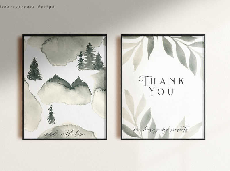 Coniferous Forest cards design illustration winter tree leaves forest abstract art