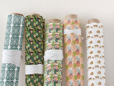 Hidden tropics fabric
