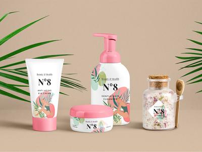 Jungle Girls branding cosmetics