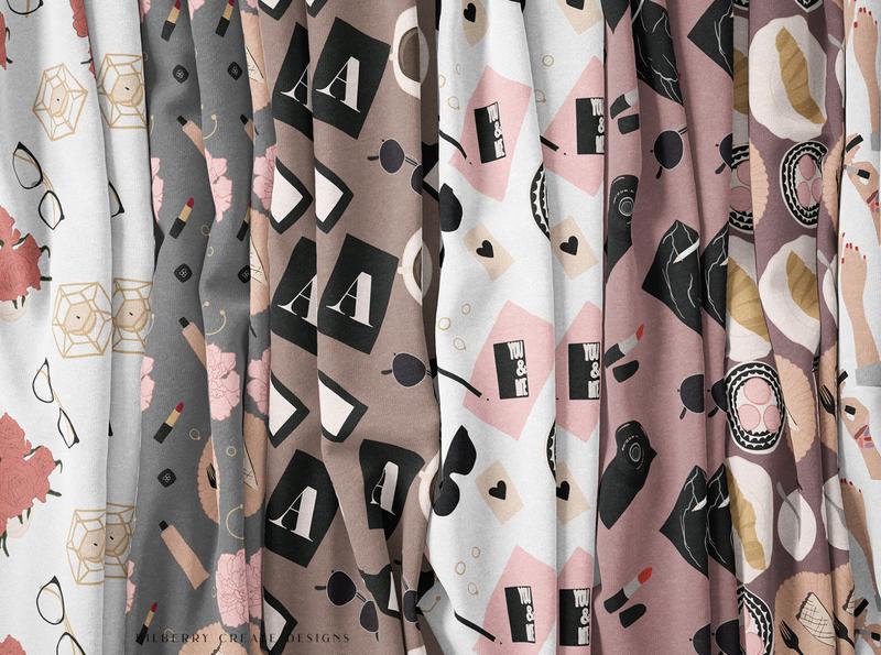 Feminine Lady Boss pattern illustration pattern design pattern a day pattern art pattern abstract art seamless pattern