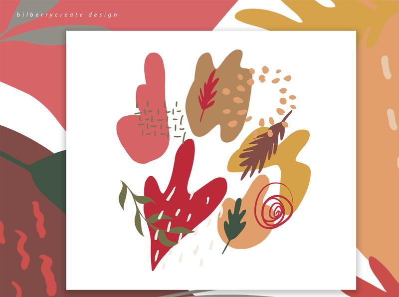 Autumn Colored composition invitation