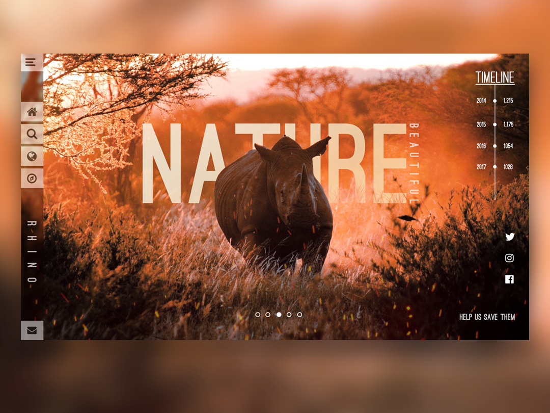 Nature UI illustrator ux web vector website ui typography minimal illustration flat design