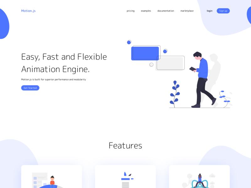 Modern Web UI modern ux website vector web ui typography minimal illustration flat design