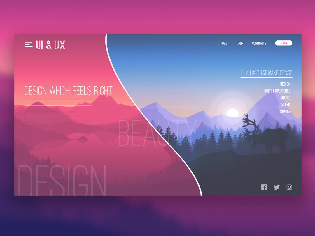 Fire Watch UI firewatch website vector web ui typography minimal illustration flat design