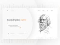 Rabindranath Tagore UI Design